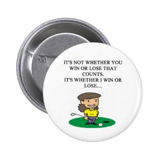 golfer golfing golf joke gifts t-shirts 2 inch round button