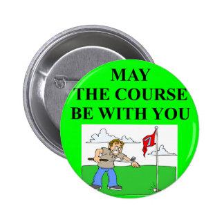 golfer golfing joke 2 inch round button