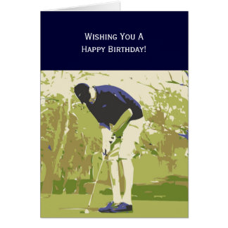 Golfer Happy Birthday Card