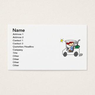 Golfer in Golf Cart Business Card