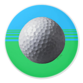 Golfer Inside ceramic knob