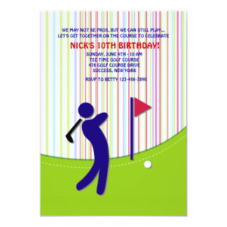 Golfer Invitation