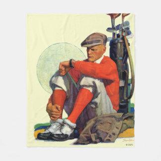 Golfer Kept Waiting Fleece Blanket