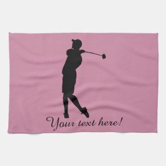 Golfer Kitchen Towel