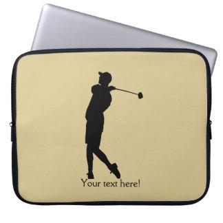 Golfer Laptop Computer Sleeve