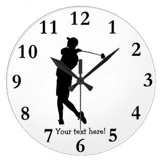 Golfer Large Clock