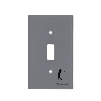 Golfer Light Switch Cover