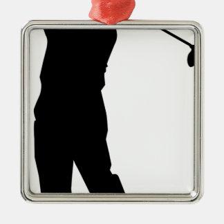 Golfer Metal Ornament