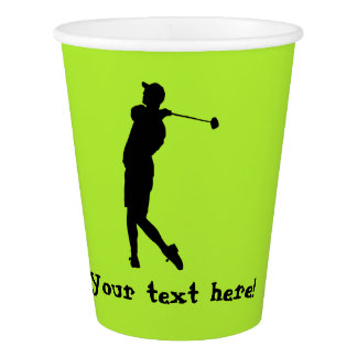 Golfer Paper Cup