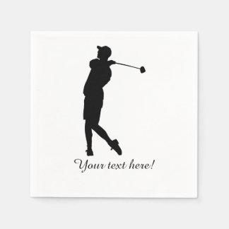 Golfer Paper Napkins