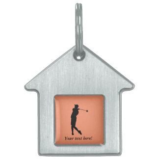Golfer Pet ID Tag