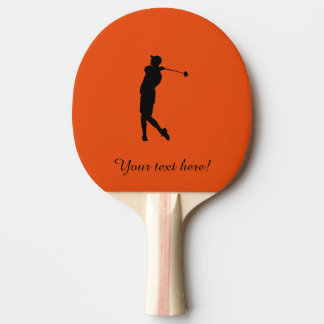 Golfer Ping Pong Paddle