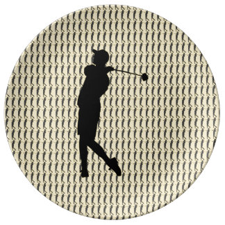 Golfer Porcelain Plate