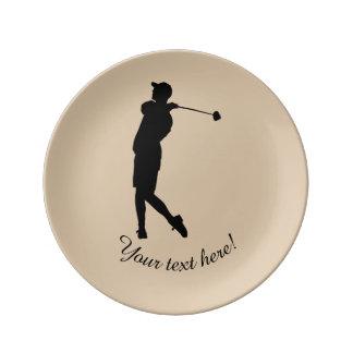 Golfer Porcelain Plates