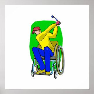 Golfer Print