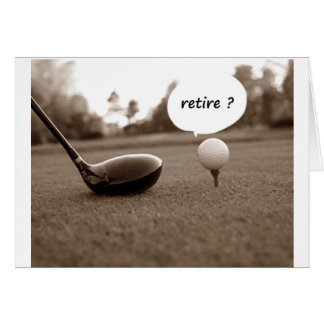 GOLFER ***RETIREMENT CONGRATULATIONS*** CARD