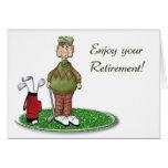 Golfer Retirement Greeting Card