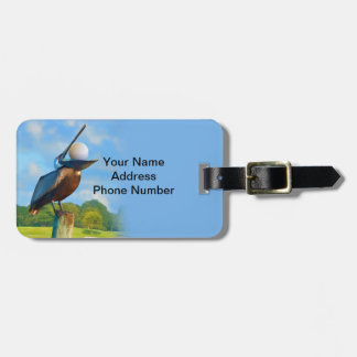 Golfer's Luggage Tag, Pelican and Ball Luggage Tag