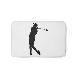 Golfer Silhouette Bath Mat