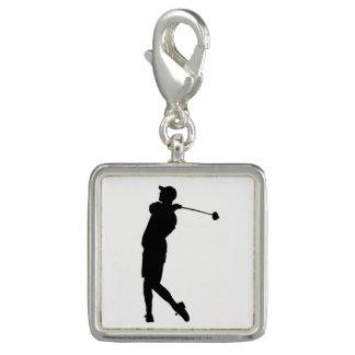 Golfer Silhouette Charms
