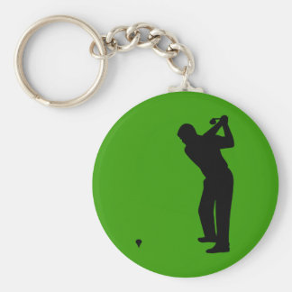 golfer silhouette keychain