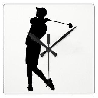 Golfer Silhouette Wall Clock