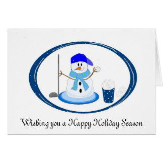 Golfer Snowman Wishes Card