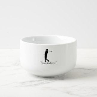 Golfer Soup Mug