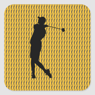 Golfer Square Sticker