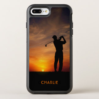 Golfer Sunset custom name phone cases