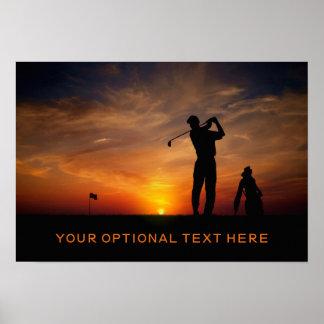 Golfer Sunset custom poster