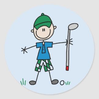 Golfer Tshirts and Gifts Classic Round Sticker