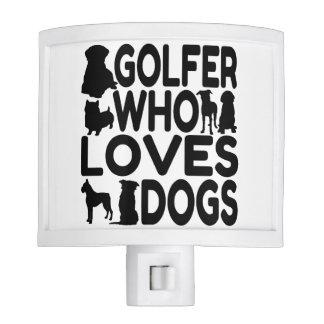 Golfer Who Loves Dogs Nite Lites