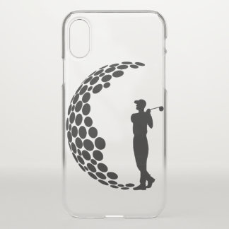 Golfer with Golf Ball iPhone X Case