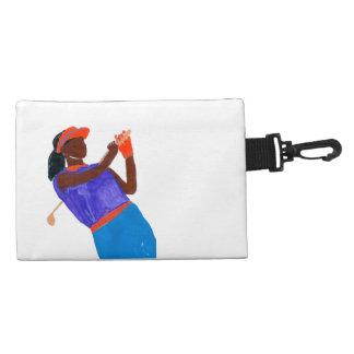 """Golfer Woman"" Clip On Accessory Bag"