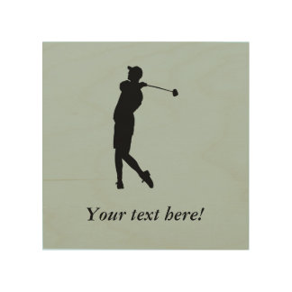 Golfer Wood Canvases