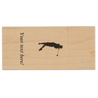 Golfer Wood USB Flash Drive