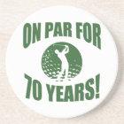 Golfer's 70th Birthday Coaster