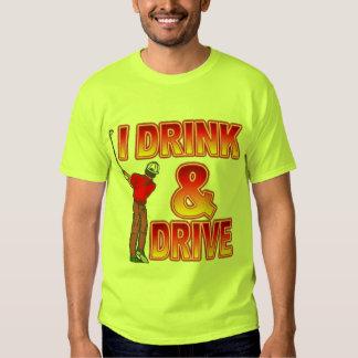 Golfers Beer Drinking Tee Shirt