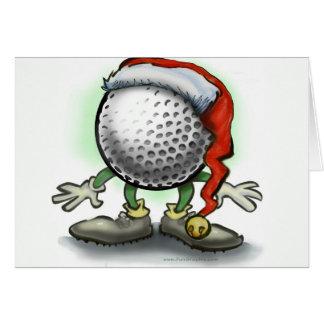 Golfer's Christmas Card