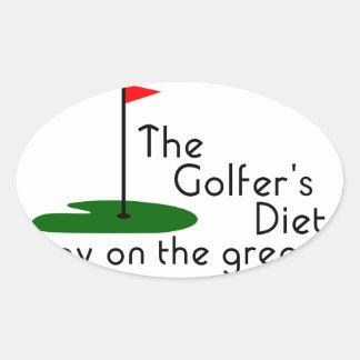 Golfers Diet Oval Sticker