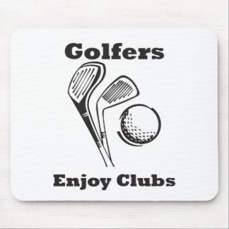 Golfers Enjoy Clubs Mouse Pad