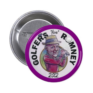 Golfers for Romney 2012 2 Inch Round Button
