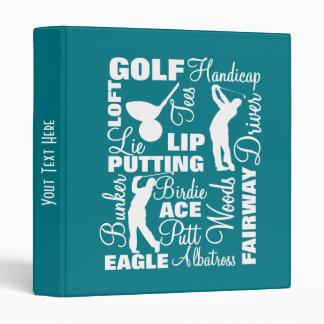 Golfers Golf Terminology Text Graphic Binders