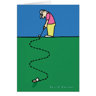 Golfers greeting card