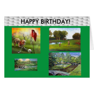 Golfers Happy Birthday card! Card