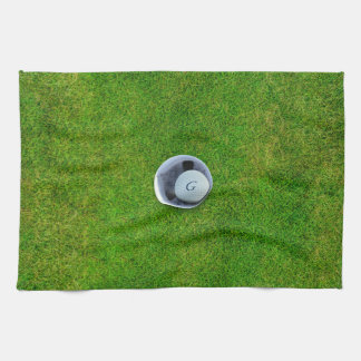 Golfer's Hole in One Putting Green Kitchen Towel