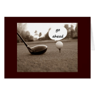 """GOLFER'S HUMOR ON TURNING """"50"""" GREETING CARD"""
