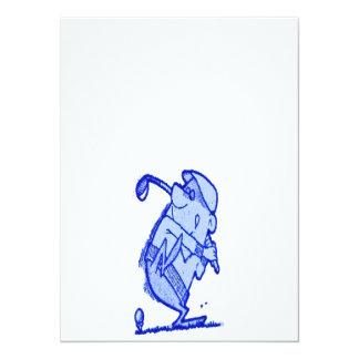 golfeur abstrait carton d'invitation  13,97 cm x 19,05 cm