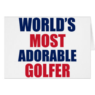 Golfeur adorable cartes